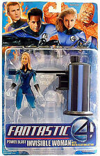 "FANTASTIC FOUR 2005__Power Blast INVISIBLE WOMAN 6 "" figure_HALF PHASING_Toy Biz"