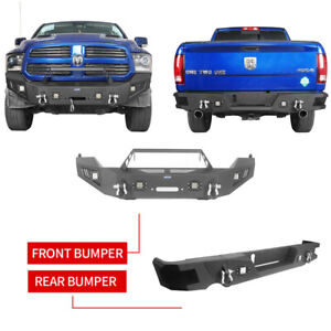 Vijay Front bumper and Rear Bumper Black Texture with 9 LED Lights ...