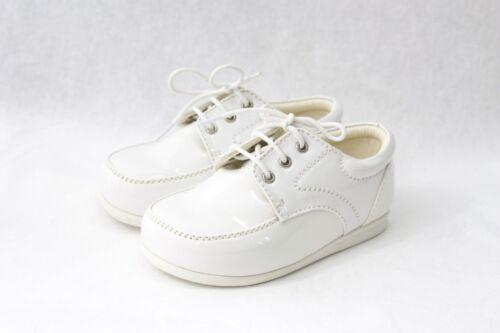 Bébé Garçons Chaussures vernies noir blanc crème formel Smart Mariage