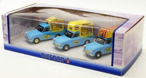 Oxford-Diecast-1-43-Scale-OXSET26-Ford-Anglia-Set-Of-3-Ice-Cream-Vans-Walls
