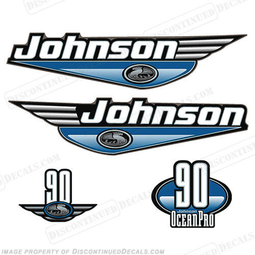 Johnson 19992000 Oceanpro 90hp Fuoribordo Decalcomania Kit  Scegli Coloreee