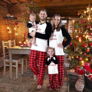 Christmas Family Matching Mom Kids Tree Pyjamas Xmas Nightwear Pajamas PJs Sets