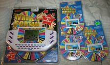 Wheel of Fortune 1996 Tiger Electronic Hand Held Electronic Game 3 cartridge New