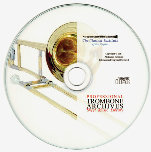 Professional TROMBONE SHEET MUSIC Archive PDF Flash Drive CD