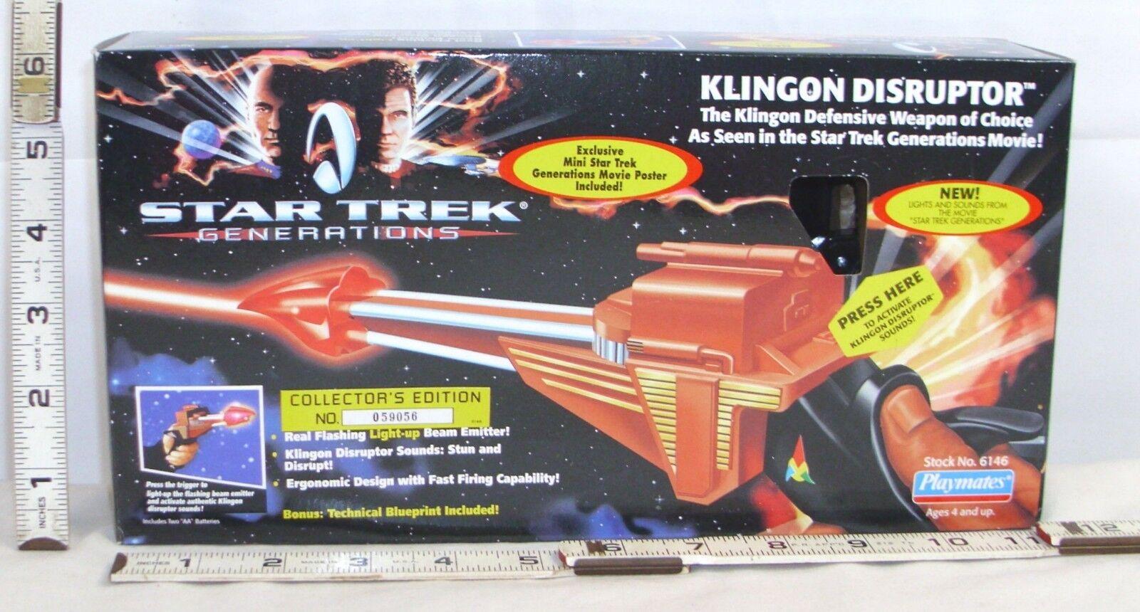 STAR TREK GENERATIONS KLINGON DISRUPTOR BOXED PLAYMATES SEALED  6146 1994