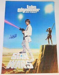 Mark-Hamill-STAR-WARS-Signed-Autograph-20x28-Vintage-1977-034-Jedi-034-Poster-BAS-LOA