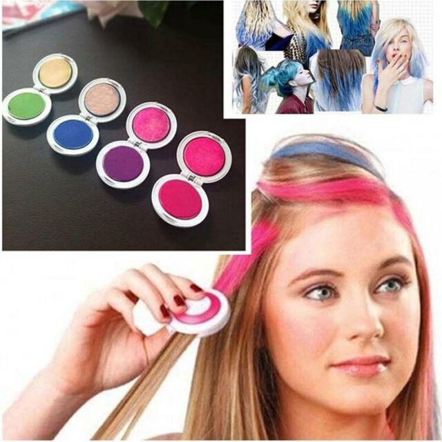 4pcs Hot Fashion Non-toxic Temporary Hair Chalk Dye Soft Pastels Salon Tools Kit