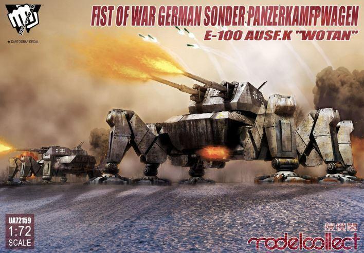 Model Collect 1 72 Fist Of Guerra Tedesco Sonder Panzerkampfwagen E-100 Ausf.k