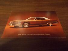 1974 Buick Electra Custom Hardtop Coupe Advertising Postcard