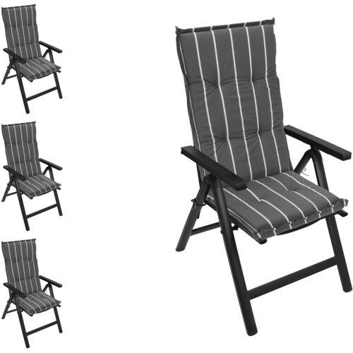 4er Set à dossier haut Rembourrage de siège édition 120x50cm Chaise Édition Rembourrage de siège Bandes