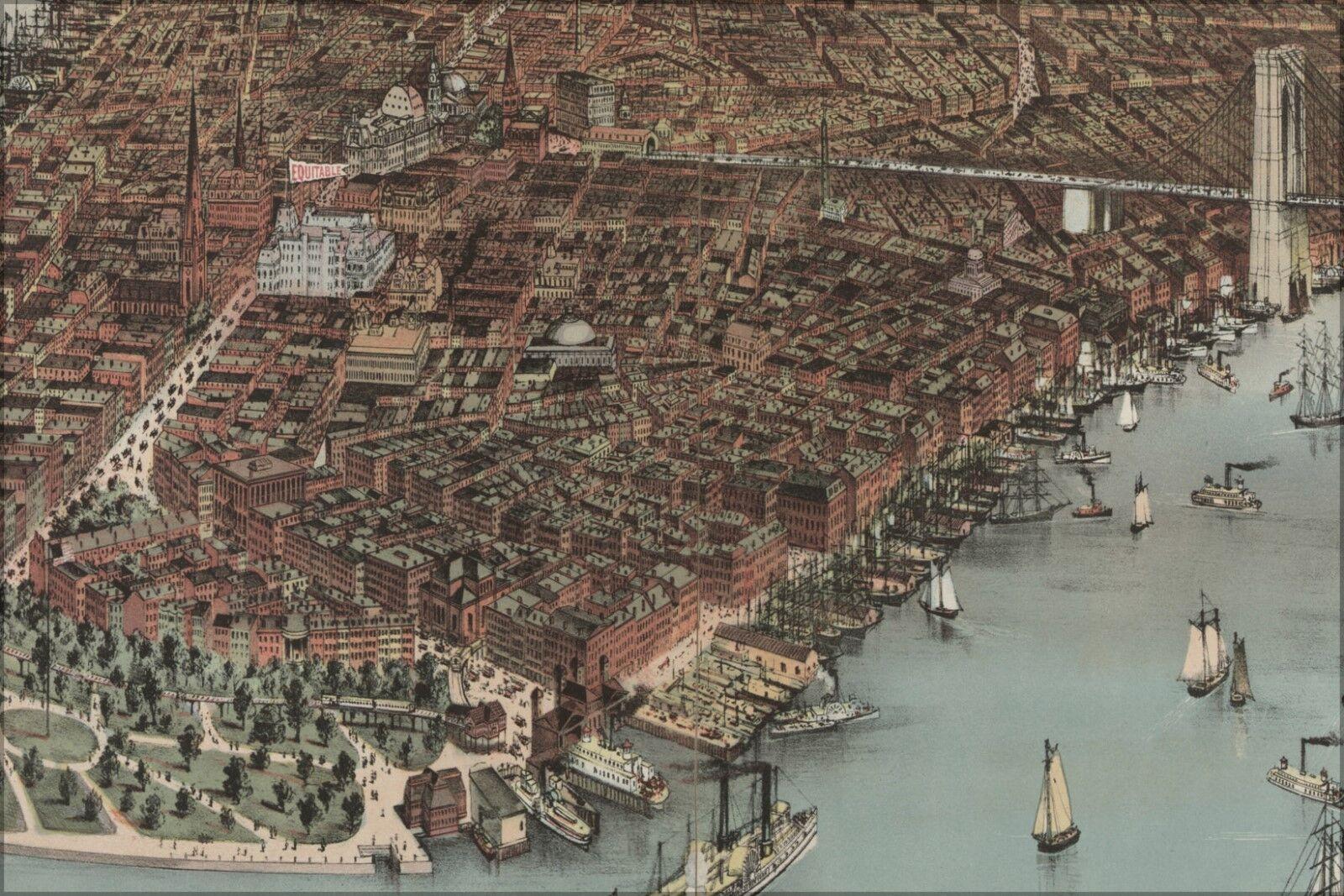 Poster, Molte Misure; 1883 City Of New York da Currier e Ives Dettaglio LC
