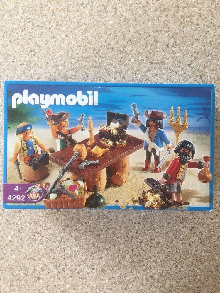 PLAYMOBIL PIRATES 4292 Pirate Crew di tesori 4 cifra  2006-NUOVO  punti vendita