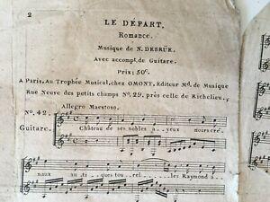 Spartito-Il-Casa-Musica-Desrue-Chitarra-Casa-Omont-XIX-Secolo