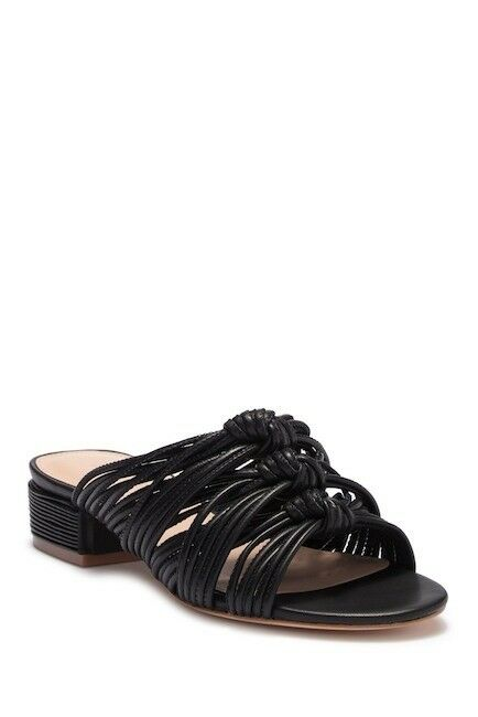 NEW Rachel Zoe Wren Leather Sandal in Black Black Black size 8 US  278+ 0fba73