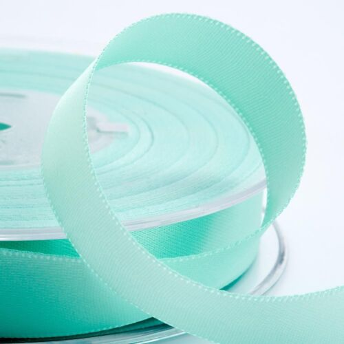 38mm Width Craft Sew 43 Colours 1m Cut Length Double Sided Satin Ribbon 3mm