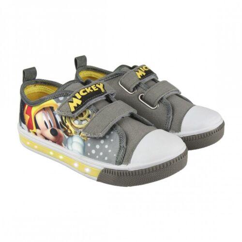 Sneaker Disney Mickey Mouse blinkende Kinderschuhe Sportschuhe Blinkie Canvas