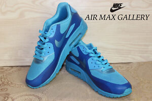 brand new 643f2 54aa9 Image is loading Air-Max-90-Hyperfuse-Blue-Glow-454446-400-