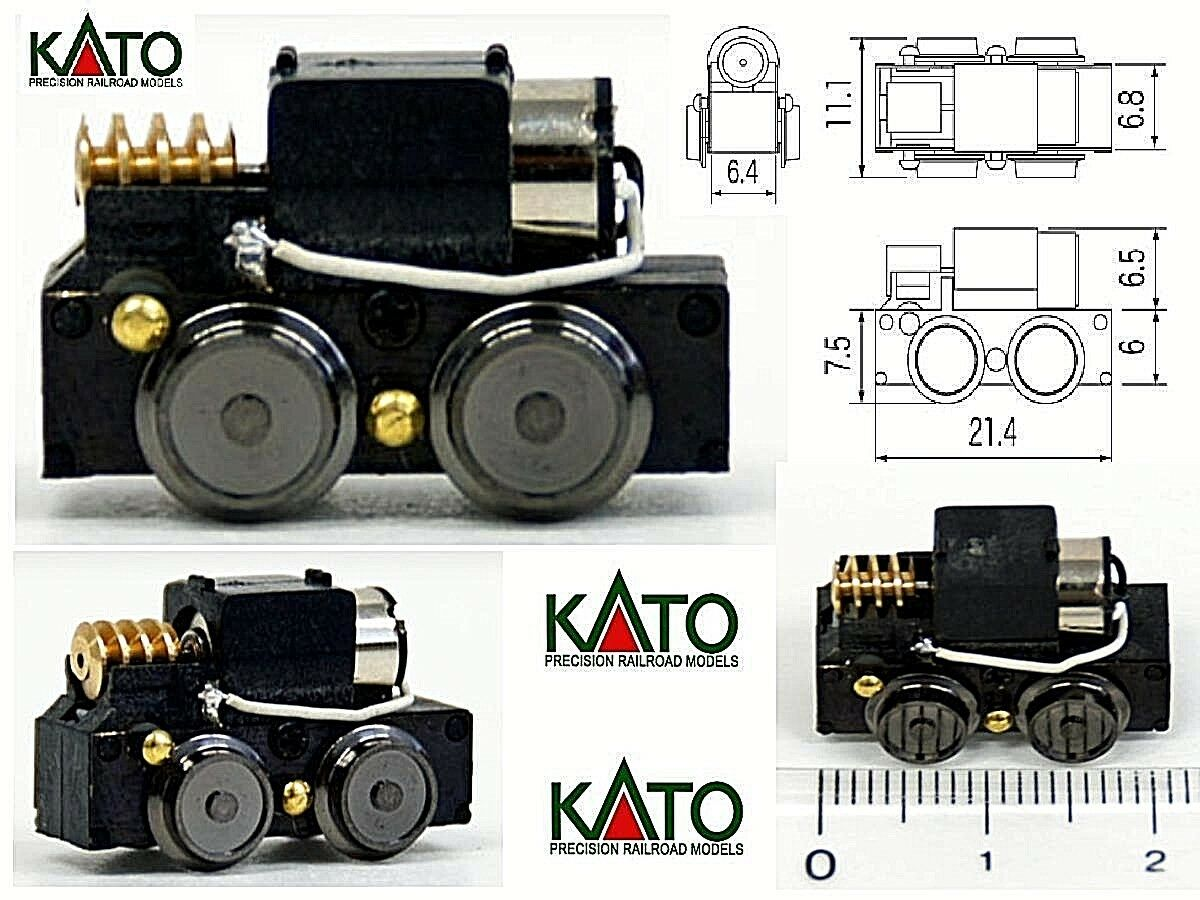 KATO TU-9A MICRO Größe CHASSIS MOTORIZED MOTORIZZATO mm.21,4 x 11 x 12,5 SCALA-N