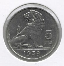 5 frank 1939 vlaams/frans pos.A * LEOPOLD III *