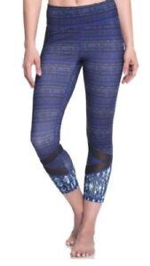 63d7a68f86ca3 NEW GAIAM Align OM Fit Yoga Athletic Capri Evie Leggings Mesh Purple ...