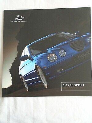 2019 Moda Jaguar S Type Sport Brochure 2001 Formato Piccolo-mostra Il Titolo Originale Materiale Selezionato