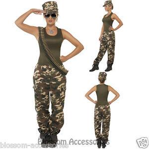 Image Is Loading Cl356 Women Khaki Camo Uniform Military Army Solr
