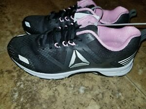 New Womens Reebok Ahary Runner Shoes Running Gray Coal Pink Athletic ... d1a01e094