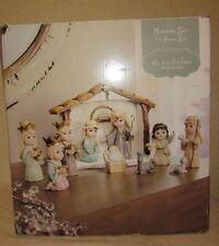 St. Nicholas Square 11pc. Kids Nativity Set Christmas Religious Holiday Decor