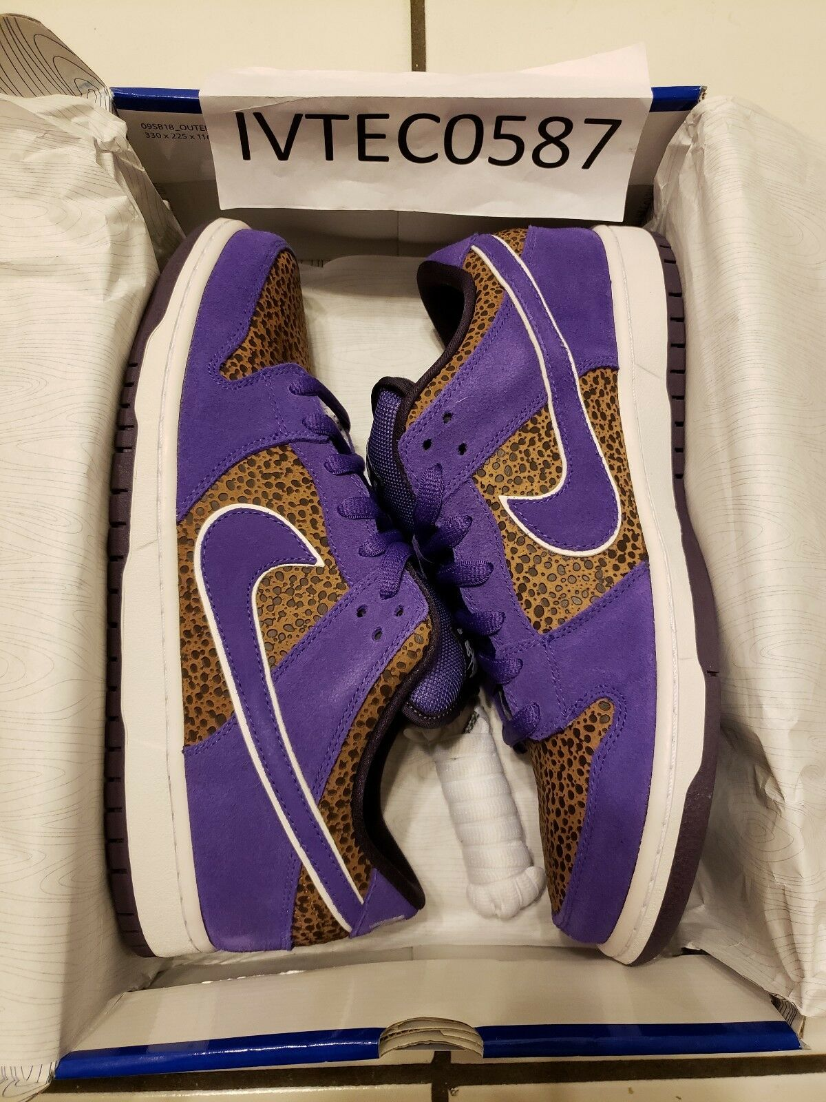Nike Sb Kenny Powers Safari Purple Mens Size 10.5 Beasly Bison Dunk Cheetah Low