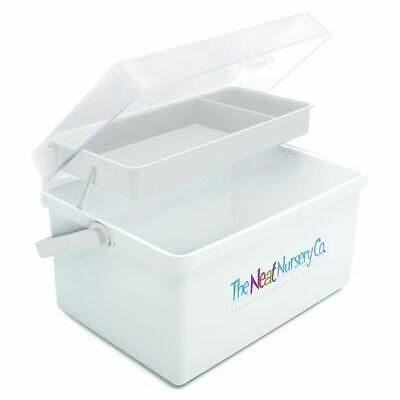 Blue//White The Neat Nursery Baby box//Organiser