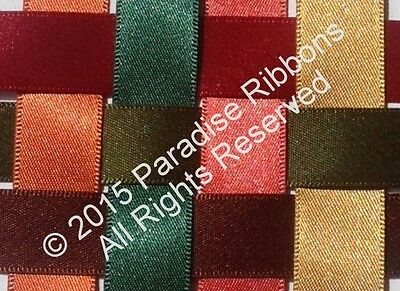 Berisfords Satin Ribbon - 'Perfect Partners Collection' - Autumn Colours