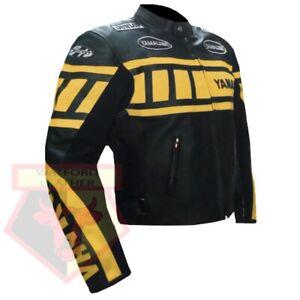 YAMAHA-0120-YELLOW-MOTORBIKE-COWHIDE-LEATHER-MOTORCYCLE-BIKERS-ARMOURED-JACKET