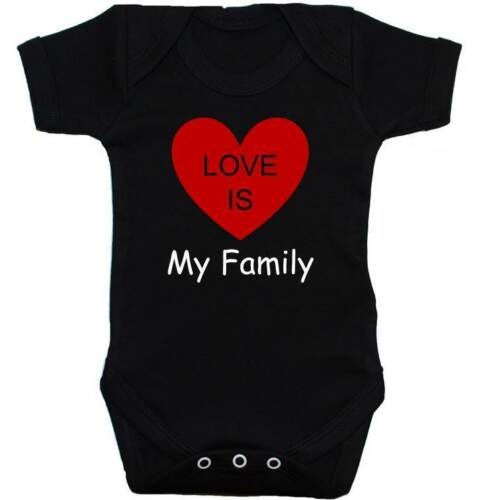 Love is my Family Babygrow Bodysuit Romper Vest T-Shirt NB-24m Boy Girl Gift