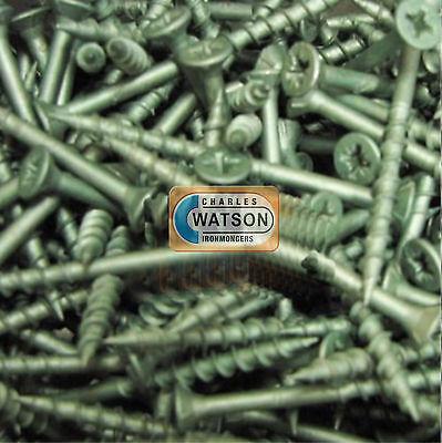200 Decking Screws 4.5 X 60mm Pozi 9g Countersunk Pozi Hardened Green Coated Grote Uitverkoop
