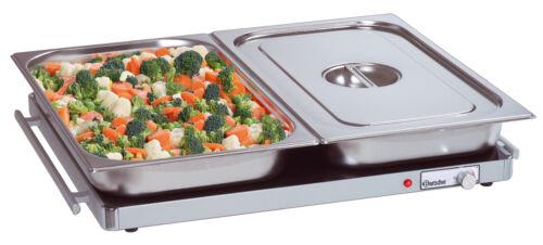für 2//1 GN Elektro Wärmeplatte mit Glas Oberfläche Warmhalteplatte groß 66 x 55