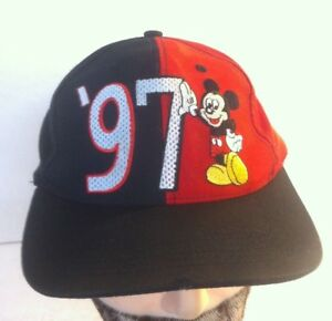 80284700937 Vintage Mickey Mouse  97 walt disney world Adj Baseball Hat Snapback ...
