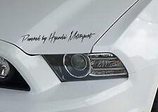 Powered by Hyundai Motorsport Aufkleber Sticker Folie Limited Edition JMD Decal