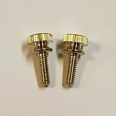 LOT OF 2 BURNISHED /& LACQUERED BRASS 8//32 THREAD KNURLED ACORN NUTS 55296J
