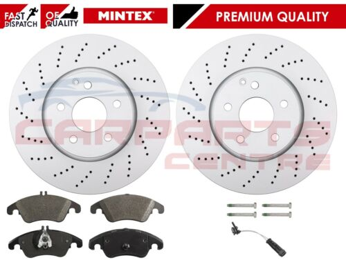 FOR MERCEDES E CLASS E250 CDI 09-16 FRONT MINTEX 322mm BRAKE DISCS PADS SENSOR