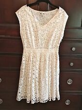 "Joie ""Leilah Eyelet White Cotton dress Size S"