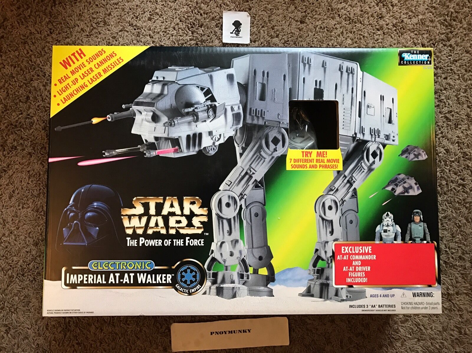 STAR WARS POWER OF THE FORCE FORCE FORCE ELECTRONIC IMPERIAL AT-AT WALKER ERROR VARIANT 9d95a3
