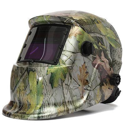 Forest Camo Adjustable Auto Darkening Solar Powered Welding Helmet Welders Mask