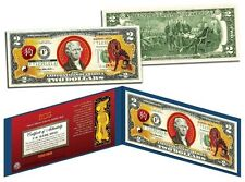 Chinese Zodiac -YEAR OF THE DOG - Colorized $2 Bill U.S. Lucky Money-New Lunar