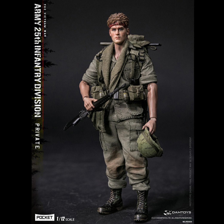 DAMSpielzeugS 1 12th PES004 Armee 25th Infantry Division Private Die Figur des Vietnamkriegs