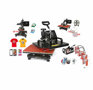 ToWorldwide 9 In 1 Heat Press Machine Digital Tshirt Printing ...