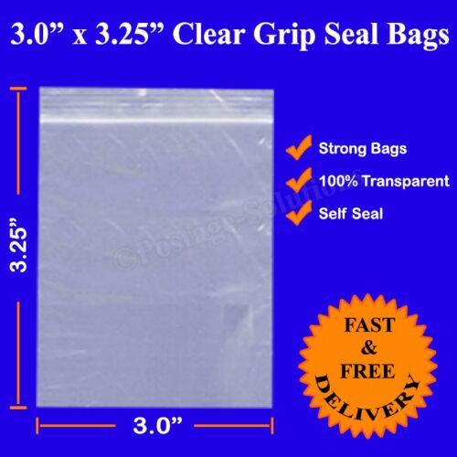 """1000 épais avec zip seal auto-adhésive transparent poly sac en plastique 3/"""" x 3.25/"""" moins cher"""