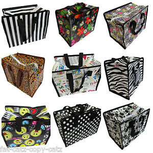 10-DESIGNS-RECYCLED-ECO-LADIES-KIDS-LUNCH-SHOPPING-TRAVEL-HAND-BAG-SPOTS-ZEBRA