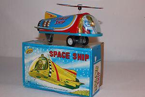 MTU, Tin Friction Space Ship with Box, Nice