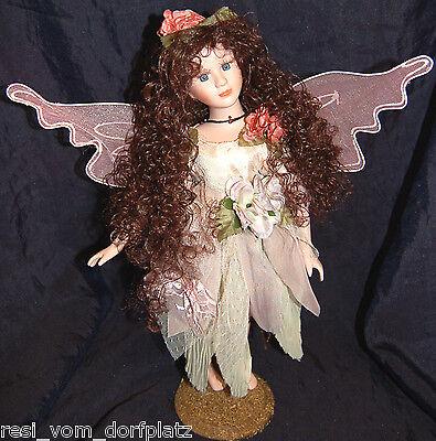 Artista Bambola Bambola Di Porcellana Da Collezione Bambola Fata Nostalgia Nuovo Int. Nr 764-mostra Il Titolo Originale