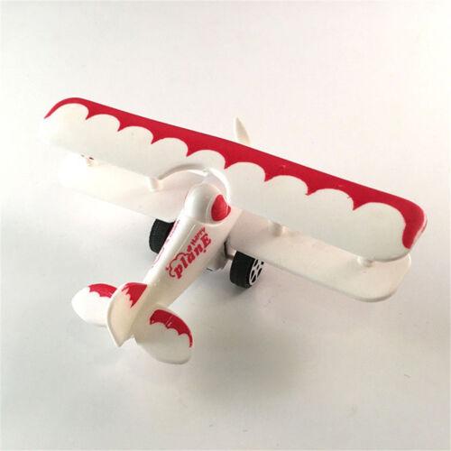 Mini VintagePlastic PlaneModel Aircraft Glider Biplane Airplane Model Kid Toy ZB